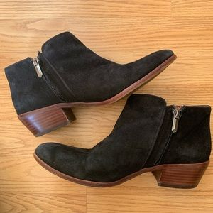 Sam Edelman Petty Suede Low Cut Ankle Boots 7.5